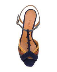 Chie Mihara Blue Kenya Sandals