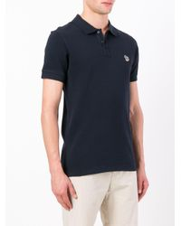PS by Paul Smith Blue Logo Polo Shirt for men