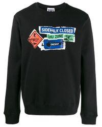 メンズ Les Hommes Road Sign スウェットシャツ Black
