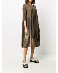 Vestido estilo camiseta con diseño de paneles Uma Wang de color Brown