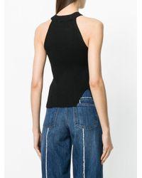 DIESEL - Black Knitted Halterneck Top - Lyst