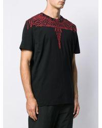 T-shirt con stampa di Marcelo Burlon in Black da Uomo