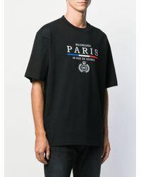 メンズ Balenciaga ロゴ Tシャツ Black