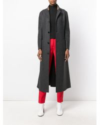Marni - Gray Women's Cpmaz28kqytw74900n80 Grey Wool Coat - Lyst