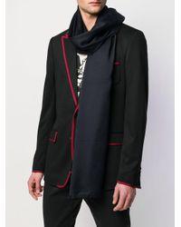 Écharpe à logo brodé Dolce & Gabbana pour homme en coloris Blue