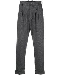 メンズ Engineered Garments ハウンドトゥース パンツ Gray