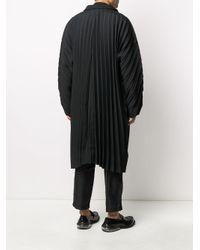 メンズ Homme Plissé Issey Miyake オーバーサイズ レインコート Black