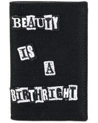 Valentino Black Embroidered Patch Wallet for men