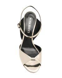 Nina Ricci Metallic Open-toe Ankle Sandals