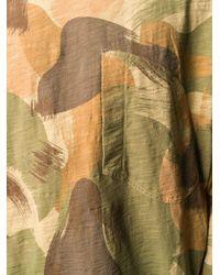 Felpa con stampa camouflage di YMC in Green da Uomo