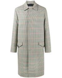 Marni Green Single Breasted Check Coat for men