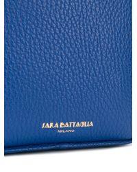 Sara Battaglia - Blue Square Shoulder Bag - Lyst