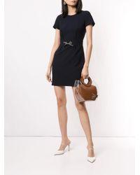 Paule Ka Blue Kleid mit kurzen Ärmeln