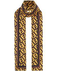 メンズ Fendi Ff スカーフ Multicolor