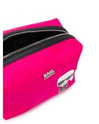 Neceser K/Ikonik Karl Karl Lagerfeld de color Pink