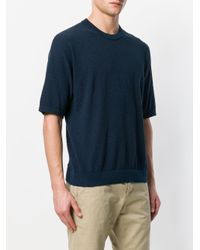 Roberto Collina - Blue Oversized T-shirt for Men - Lyst