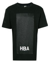 Hood By Air Black Glitter Box T-shirt for men
