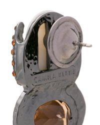 Camila Klein - Metallic Escaravello Earrings - Lyst