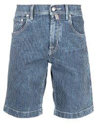 メンズ Jacob Cohen ストライプ ショートパンツ Blue