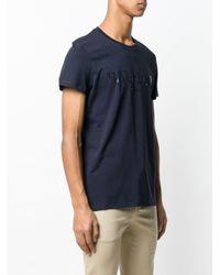 Balmain T-Shirt mit Logo-Print in Blue für Herren