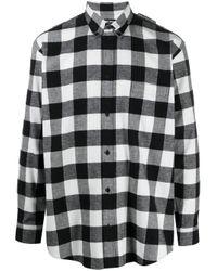 Balenciaga Kariertes Hemd in Black für Herren