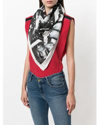 CALVIN KLEIN 205W39NYC - White X Andy Warhol Paint-like Printed Scarf - Lyst
