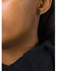 Elise Dray - Gray Geometric Diamond Earrings - Lyst