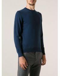 Drumohr Blue Round Neck Knit Sweater for men