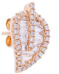 Anita Ko - Metallic Leaf Studded Earrings - Lyst