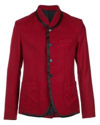 À La Garçonne Red Panelled Blazer for men