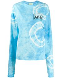 Aries ロゴ スウェットシャツ Blue