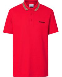 メンズ Burberry ポロシャツ Red