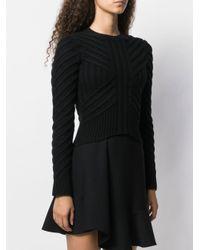 Трикотажный Джемпер С Узором Шеврон Alexander McQueen, цвет: Black