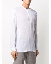 メンズ AllSaints ボタン Tシャツ White