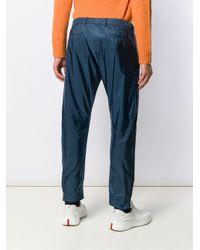 メンズ Prada ジップ スリムパンツ Blue
