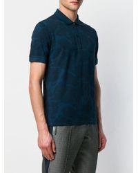メンズ Etro ペイズリー ポロシャツ Blue
