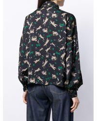 Blusa con stampa di Liu Jo in Multicolor