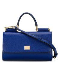 Dolce & Gabbana Blue Small 'sicily' Crossbody Bag