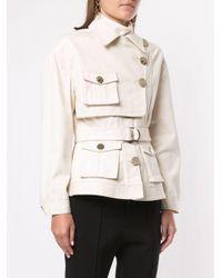 Acler White Lewis Denim Jacket