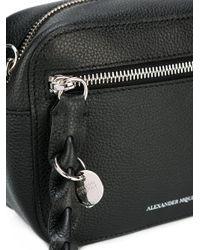 Alexander McQueen Black Skull Camera Shoulder Bag