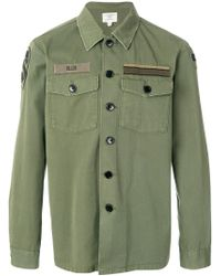 Kent & Curwen - Green Flap Pocket Military Jacket for Men - Lyst