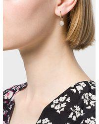 Origin 31 Metallic 9kt Yellow Gold Small Baroque Pearl Sherbert Pip Hoop Earring