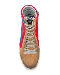 Golden Goose Deluxe Brand Red Slide Sneakers for men