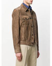 Tod's Brown Suede Trucker Jacket for men
