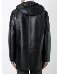 Desa Nineteenseventytwo - Black Hooded Coat for Men - Lyst