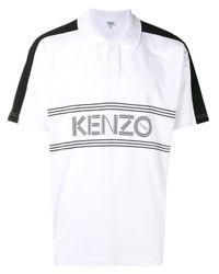 メンズ KENZO ロゴプリント ポロシャツ White