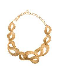 Oscar de la Renta | Metallic Twisted Ribbon Necklace | Lyst