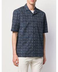 Chemise imprimée à manches courtes Sunspel pour homme en coloris Blue