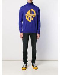Love Moschino Intarsien-Pullover in Blue für Herren