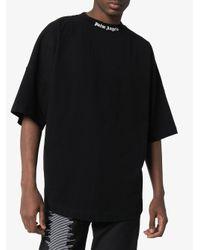 メンズ Palm Angels ロゴ Tシャツ Black